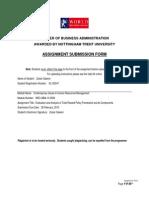 Assignment CIHRM-Zubair (KL102047)