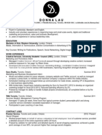 Donna Lau Resume