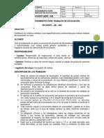 PR-SGSST – AE – 006 PROCEDIMIENTO PARA TRABAJOS DE EXCAVACIÓN