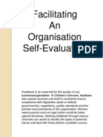 Facilitating an Organisation Self-evaluation