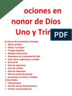 Devociones en Honor de Dios Uno y Trino