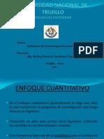 ENFOQUES DE LA INVESTIGACIÓN CIENTIFICA