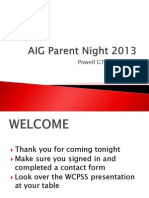 aig parent night