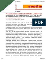 26.9.2013, 'Presentazione Del Libro ROMAGNA LIBERTY a FERRARA', Noi Donne