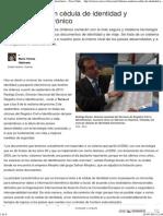 Chilenos tendrán cédula de identidad y pasaporte electrónico - Terra Chile