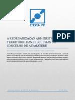A REORGANIZAÇÃO ADMINISTRATIVA DO TERRITÓRIO DAS FREGUESIAS DO CONCELHO DE ALVAIÁZERE VF