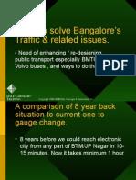 Bangalore Trafic - Solutions