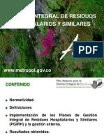 Gestión Integral de Residuos Sólidos Hospitalitarios y Similares