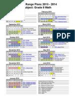 2013-2014 math 8 long range plans from word web