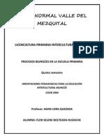 ORIENTACIONES PEDAGOGICOS PARA LA OBSERVACIÓN INTERCULTURAL BILINGUE