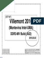 Hp Compaq Cq320 Cq321 - Inventec Villemont Vv10 - Intel Uma 6050a2364601 - Rev a02
