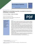 Diagnóstico de infertilidad masculina, necesidad de valoraciones funcionales y cromatínicas