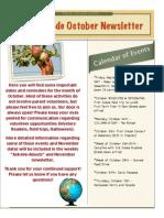 First Grade October Newsletter - Dates 2013 Copy Copy
