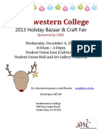 2013 Holiday Bazaar Flyer