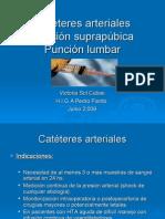 Cateteres Arteriales - Punción Suprapúbica - Punción Lumbar