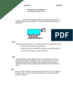 Thermodynamics Problem Set