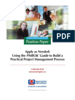 Using the PMBOK Guide to Build a Practical PM Process