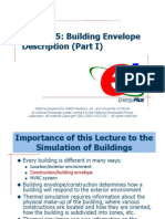 Lecture 05 Building Envelope