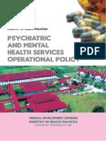 Psychiatry Operational Policy