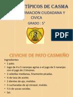 PLATOS TÍPICOS DE CASMA