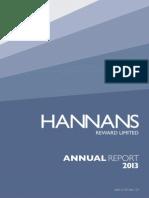 Hannans Annual Report 2013