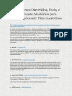 60recursosdivertidosteisetotalmentealeatriosparaorganizaessemfinslucrativos-120926132030-phpapp01