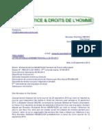 Lettre Au Vice Consul de France Marrakech Du 22-09-2013 - Sos-Justice-Amine Hmamouchi