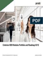 Cinterion M2M Modules Portfolio and Roadmap 2012 03