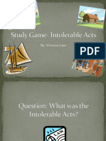 study game- intolerable acts