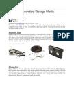 Types of Secondary Storage Media