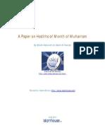 En a Paper on Hadiths of Month of Muharram