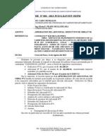 APROBACION DEL ADICIONAL DEDUCTIVOUCHUMARCA DE OBRA N° 01