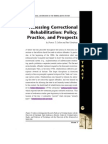 Assessing Correctional Rehabilitation- Policy, Practice, and Prospects