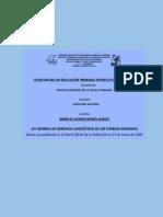 LEY GENERAL DE DERECHOS LINGÜÍSTICOS DE LOS PUEBLOS INDÍGENAS