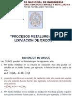 Lixiviacion de Oxidos Cft 2013 II