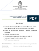 Folleto Informativo Cursos de Extension 2013-I