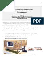 Using GigaProbes Agilent TDR D5