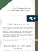 trombosis hnp