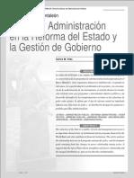 El Síndrome de Pantaleón. Política y Administración en la Reforma del Estado y la Gestión de Gobierno