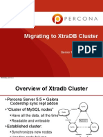 合并到 XtraDB 存储引擎集群