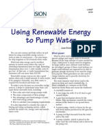 Using Renevable Energy to Pump Water