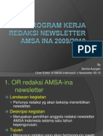 Program Kerja Redaksi Newsletter Amsa Ina 2009