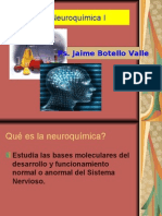 Neuroquímica I. Ps. Jaime Botello Valle