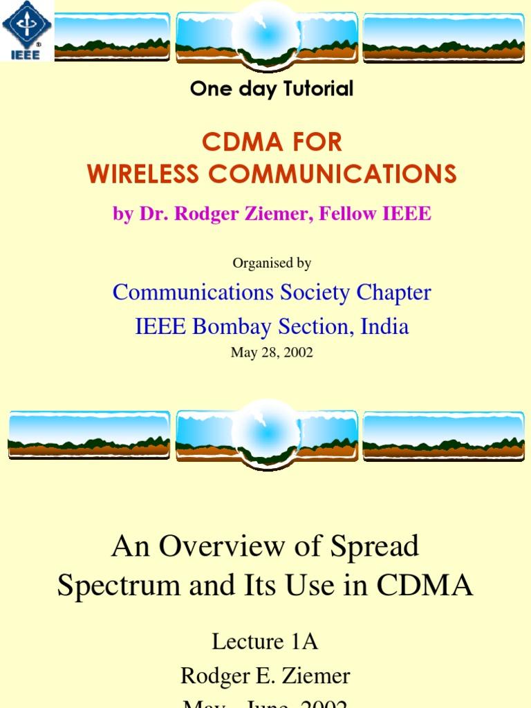 Cdma For Vwireless Communications