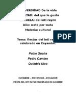 Fiesta de Cayambe - Pablo Guaña