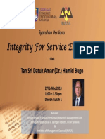 Integrity for Service Excellence