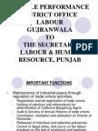 Presentation to Secretary Lab & HR