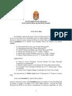 Acta Junta Municipal Distrito Zaidín Septiembre 2013