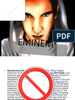 eminem sample not to do and contents of slides