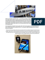 Samsung Galaxy Note 3 Dan Galaxy Gear Resmi Masuk Indonesia